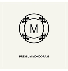 premium art deco monogram design element vector image
