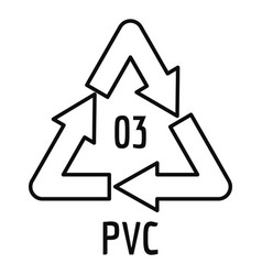 Pvc sign icon outline style vector