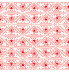 Red hearts and lines on white background vector