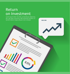 Return on investment roi concept business vector