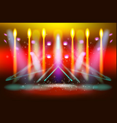 scene illumination show bright lighting vector image