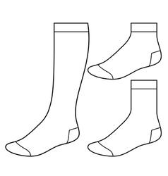 Set blank socks vector
