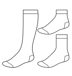 Set of blank socks vector image
