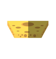 Slice cheese food shadow vector