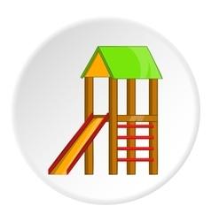 Slide house icon cartoon style vector image