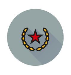 Socialism communism icon on round background vector