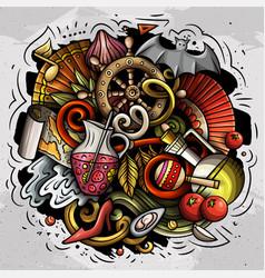 spain hand drawn cartoon doodle vector image