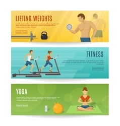 Sportive Lifestyle Horizontal Banners Set vector image