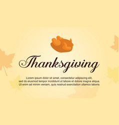Thanksgiving theme background collection style vector