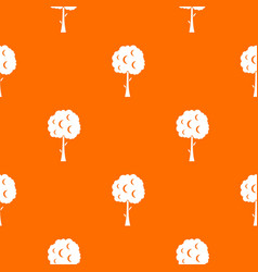 tree with spherical crown pattern seamless vector image