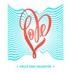 valentine gold love heart glitter pattern card vector image