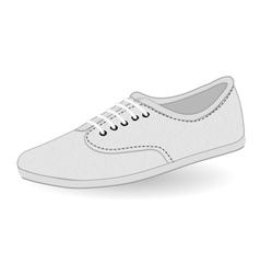 Vans white vector