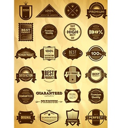 Vintage labels Big collection 3 vector image
