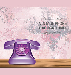 Vintage retro phone realistic detailed 3d vector