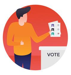 Vote casting vector