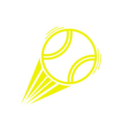 yellow tennis ball move vector image
