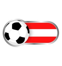 austria soccer icon vector image