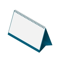 Desk calendar template with blank pages vector image