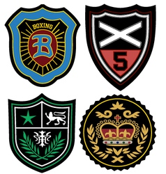 fashion emblem badge vector image