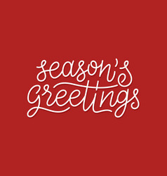 merry christmas calligraphic line art typography vector image