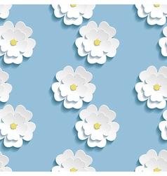 Modern background seamless pattern with 3d sakura vector