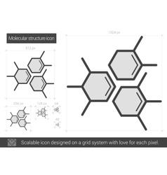 Molecular structure line icon vector