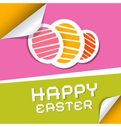 Paper Easter Eggs on Paper Background vector image