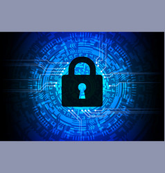 technology security blue abstract background vector image vector image