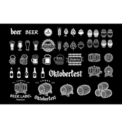 Vintage craft beer brewery emblems labels and vector image