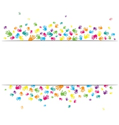Abstract hands background vector image vector image