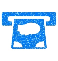 Atm payment grainy texture icon vector