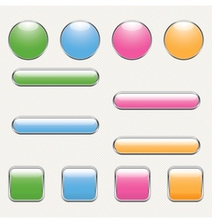 blank button template vector image vector image