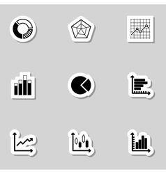 Diagram Icons Set as Labes vector image vector image