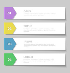 Infographics Design template Numbered banners vector image vector image