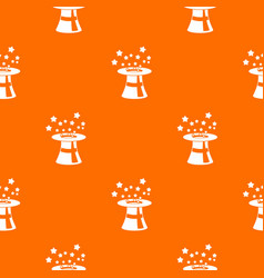 magic hat with stars pattern seamless vector image vector image