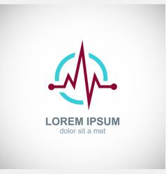 medic pulse logo vector image vector image