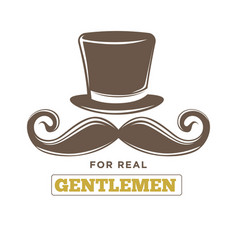 real gentlemens club isolated vintage emblem with vector image vector image