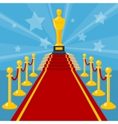 red carpet award vector image