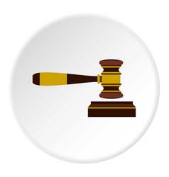 judges gavel icon circle vector image vector image