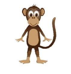 Monkey isolated on white background vector image vector image
