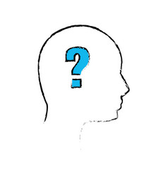 Outline human man question vector