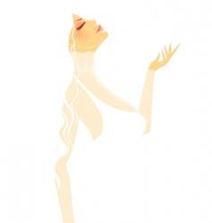 silhouette women vector image vector image