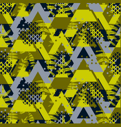 triangle camo fern bold seamless pattern vector image vector image