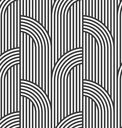 Black and white geometric striped seamless pattern vector image