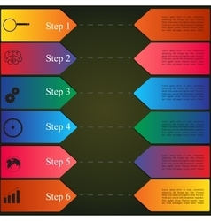 infographics style options banner vector image