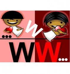 love website vector image vector image
