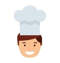 professional chef isolated icon design vector image vector image