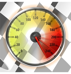 Speedometer with Flag vector image