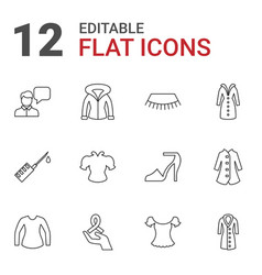 12 drawn icons vector