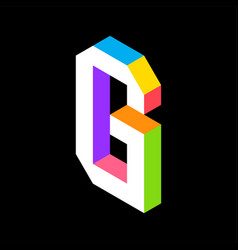 3d colorful letter g logo icon design template vector image